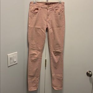 7 for all mankind pink soft jeans size 26